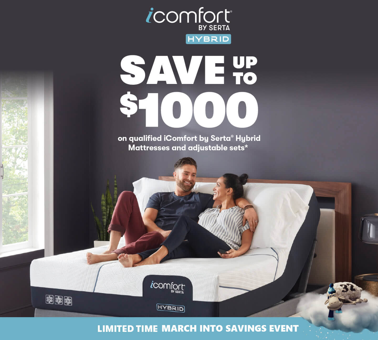 Serta iComfort Hybrid March to Savings Event